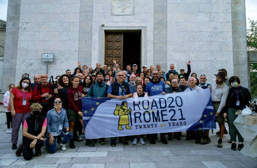 """30 settembre 2021. Ingresso in Puglia della lunga marcia """"Via Francigena. Road to Rome"""